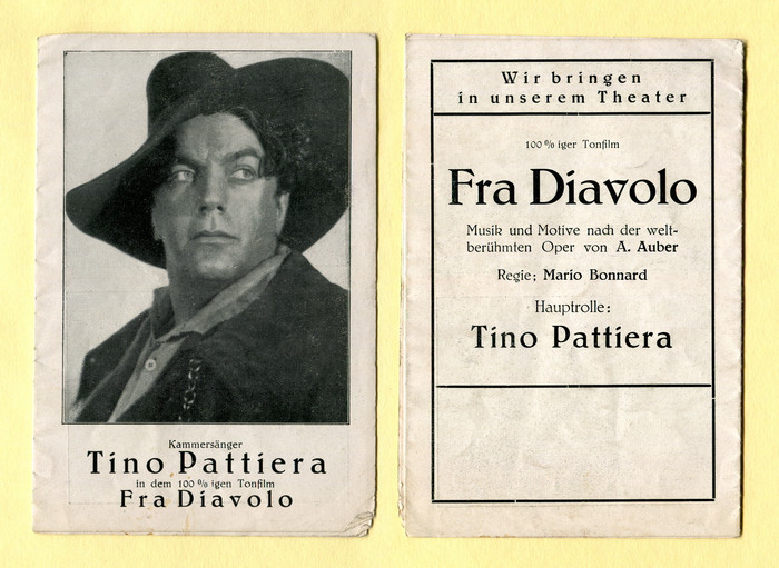 Fra Diavolo movie leaflet 1
