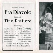 <cite>Fra Diavolo</cite> movie leaflet