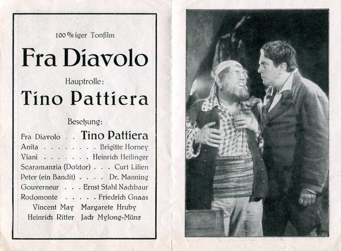 Fra Diavolo movie leaflet 2