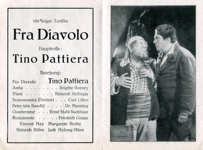 Fra Diavolo movie leaflet 2
