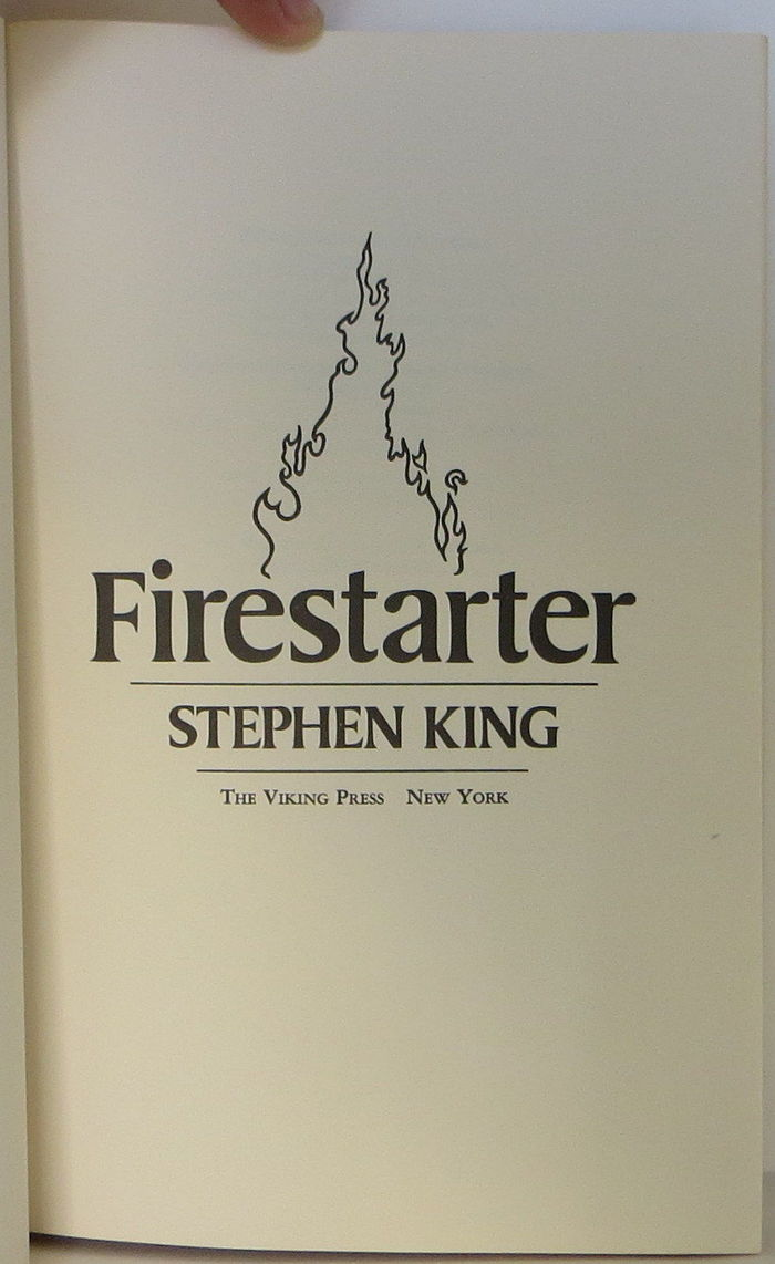 Firestarter, Viking 1st Edition 4