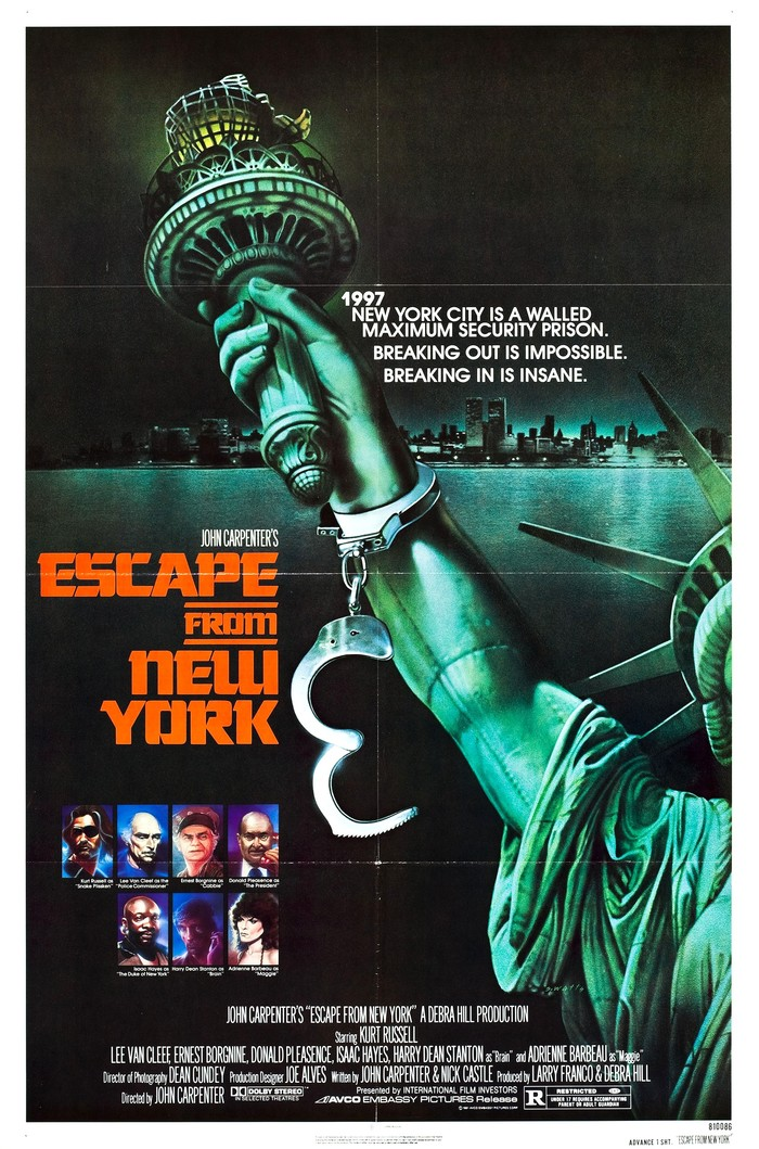 Escape from New York movie posters 1