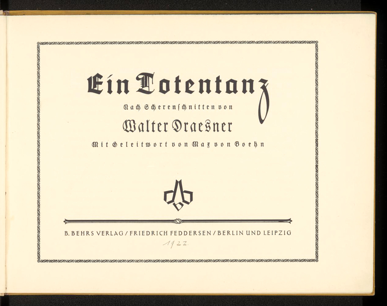 Ein Totentanz by Walter Draesner - Fonts In Use