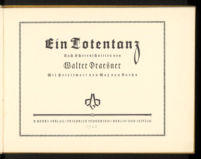 Ein Totentanz by Walter Draesner 3