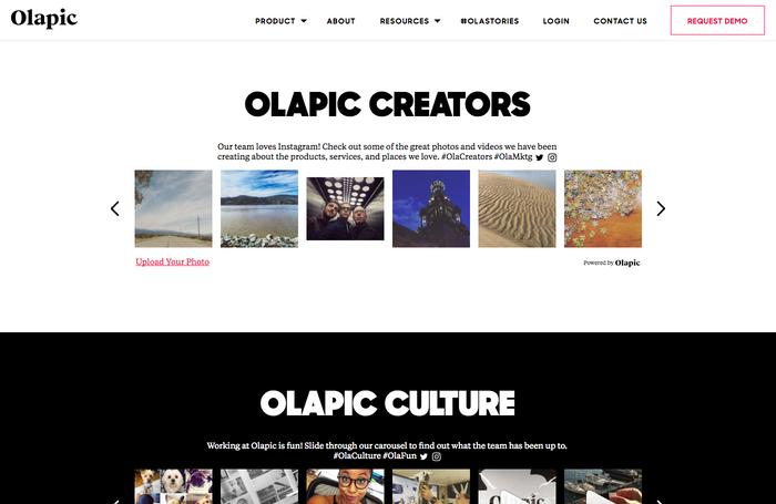 Olapic website.