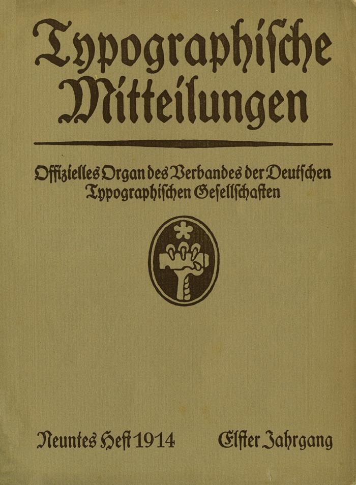 Typographische Mitteilungen, Vol. 11, No. 9, September 1914
