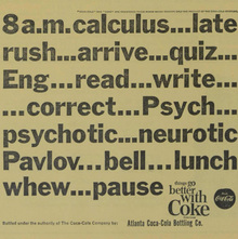 Coke student ads (<cite>Agnes Scott News</cite>, 1963–64)