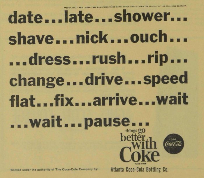 Coke student ads (Agnes Scott News, 1963–64) 4