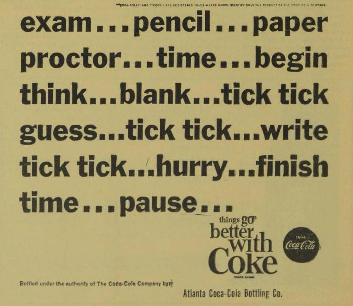 Coke student ads (Agnes Scott News, 1963–64) 5