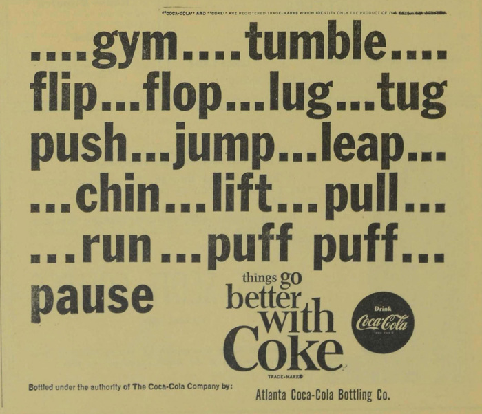 Coke student ads (Agnes Scott News, 1963–64) 6