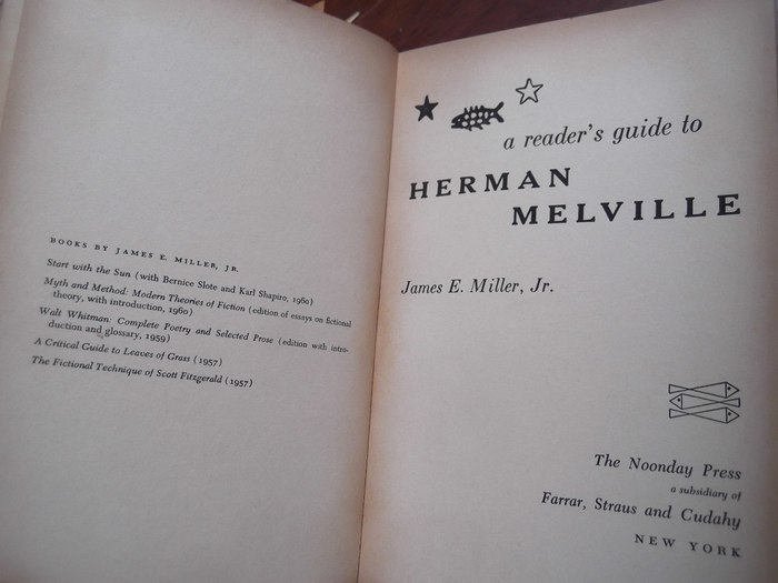 A Reader's Guide to Herman Melville, First Edition 3