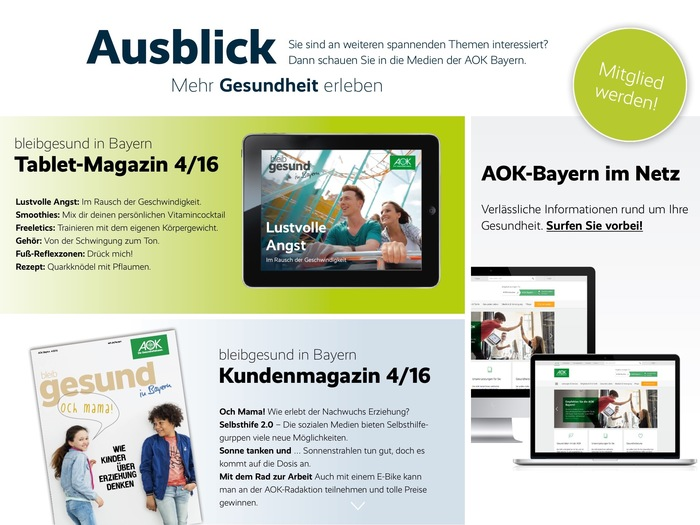 bleib gesund magazine, tablet edition 4