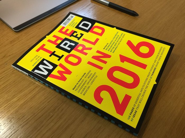 "Wired (UK) magazine, ""The Wired World"" 2015, 2016 1"