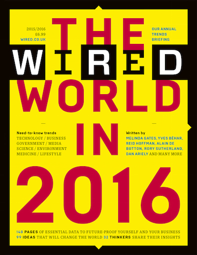 "Wired (UK) magazine, ""The Wired World"" 2015, 2016 2"