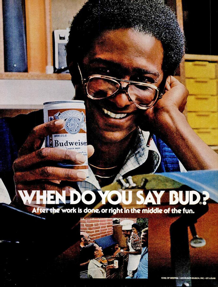 "Budweiser ads: ""When do you say Bud?"" 1"