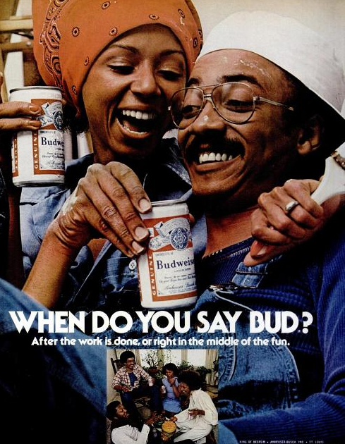 "Budweiser ads: ""When do you say Bud?"" 3"