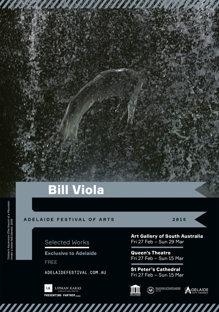 Bill Viola daybill. Here and elsewhere, Formular is paired with GT Pressura Mono, which is narrower than Formular Mono.