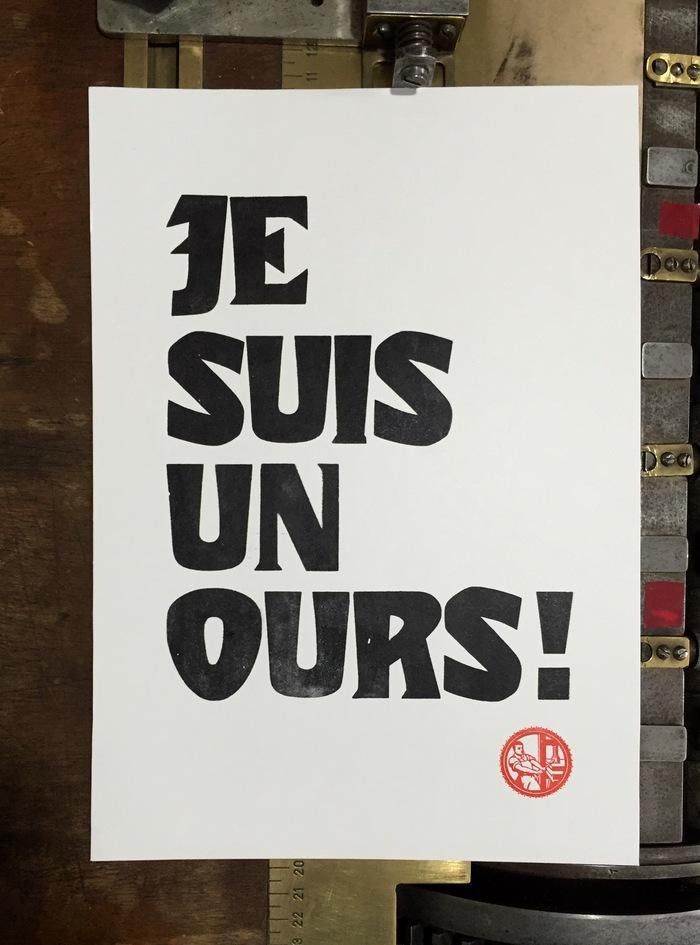 """""""Je suis un ours!"""" poster 1"""