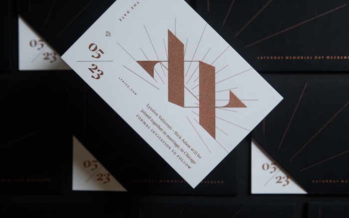 Lyndon + Nick wedding invitation 3