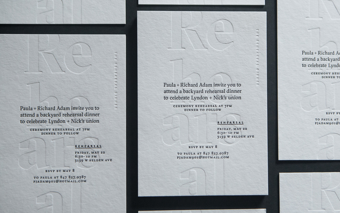 Lyndon + Nick wedding invitation 5