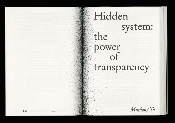"The Issue No. 1, ""Speculating Systems"" 5"