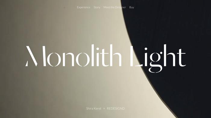 Monolith Light website 4