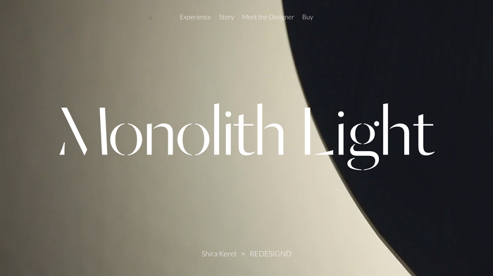 Monolith Light website 4