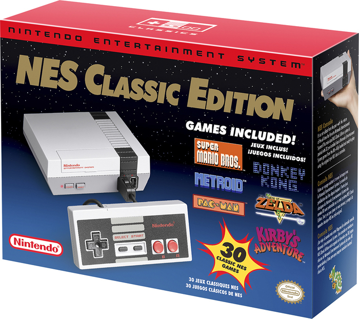 Nintendo Entertainment System NES Classic Edition packaging 1