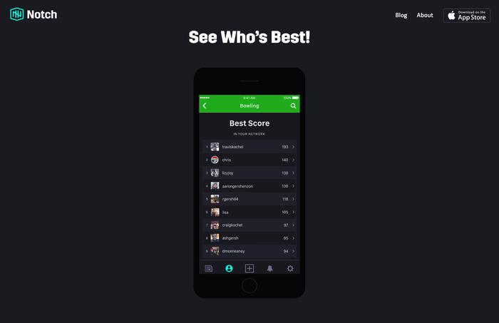Notch app and website 6