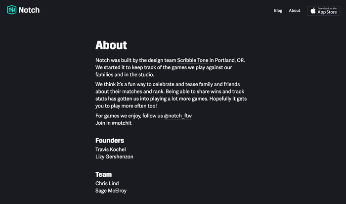 Notch app and website 7