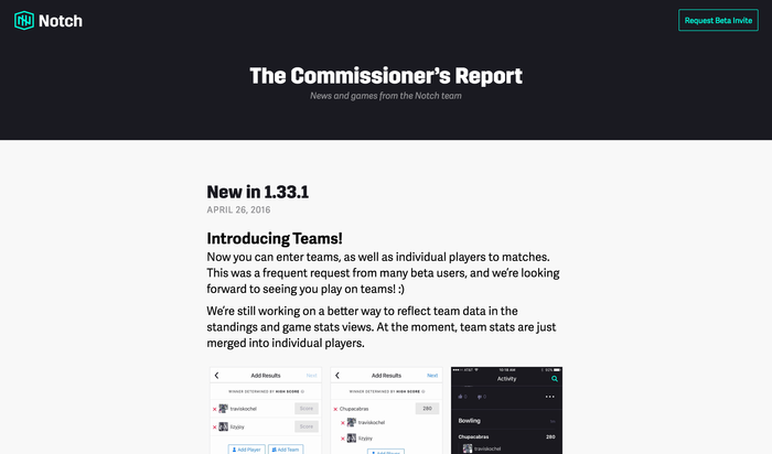 Notch app and website 8