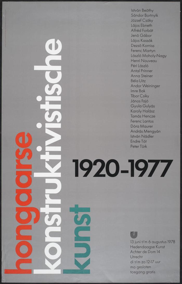 Hongaarse konstruktivistische kunst, 1920–1977 catalog and poster 2