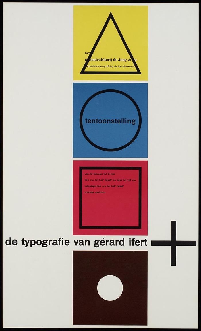 De Typografie van Gérard Ifert poster 2