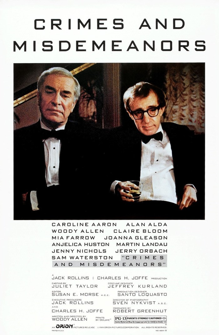 Crimes and Misdemeanors movie poster 1