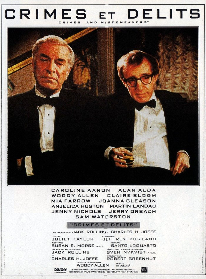 Crimes and Misdemeanors movie poster 3
