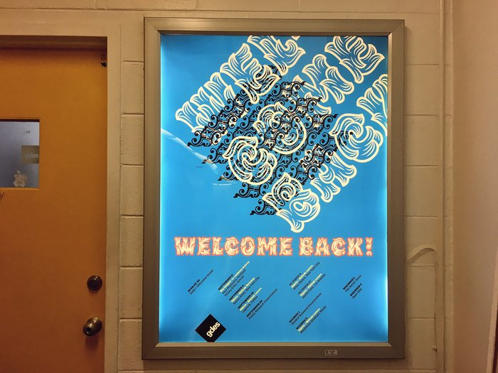 """Welcome back!"" poster, VCUarts 1"