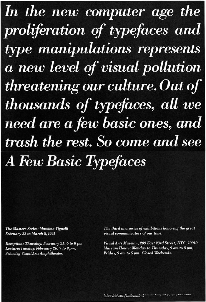 Massimo Vignelli's A Few Basic Typefaces 1