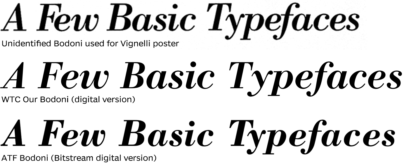 Massimo Vignelli's A Few Basic Typefaces - Fonts In Use