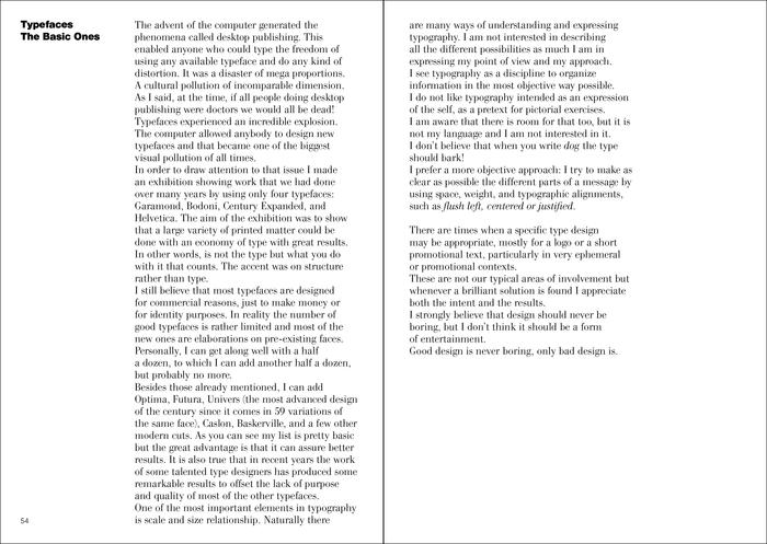 Massimo Vignelli's A Few Basic Typefaces 3
