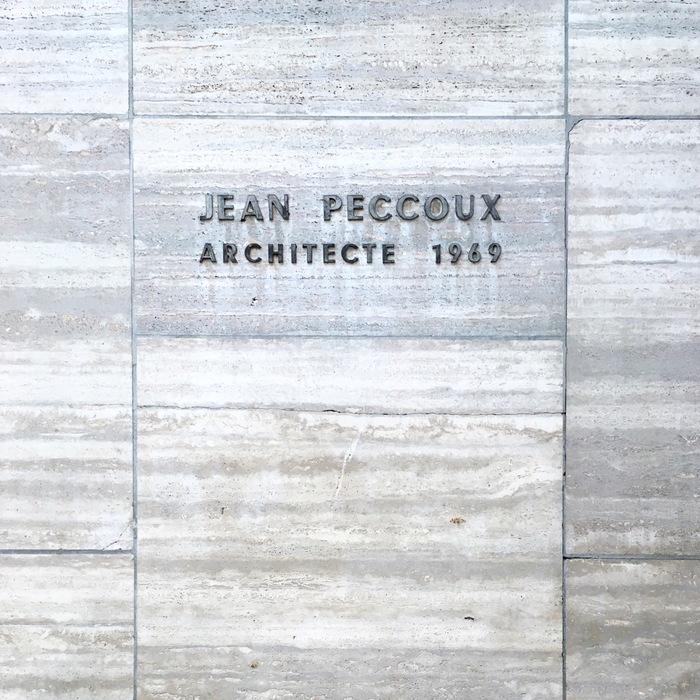 Jean Peccoux, Architecte 1969