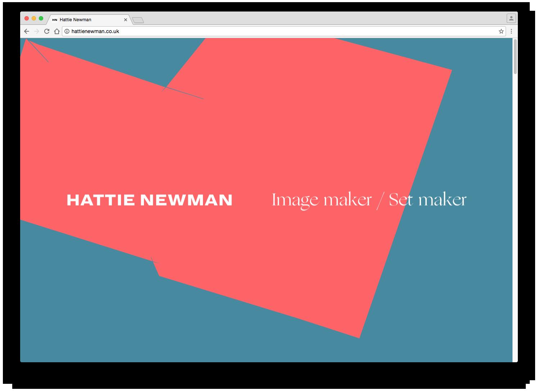 Hattie Newman website - Fonts In Use