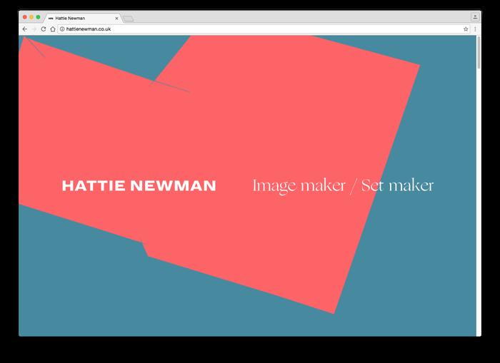 Hattie Newman website 1