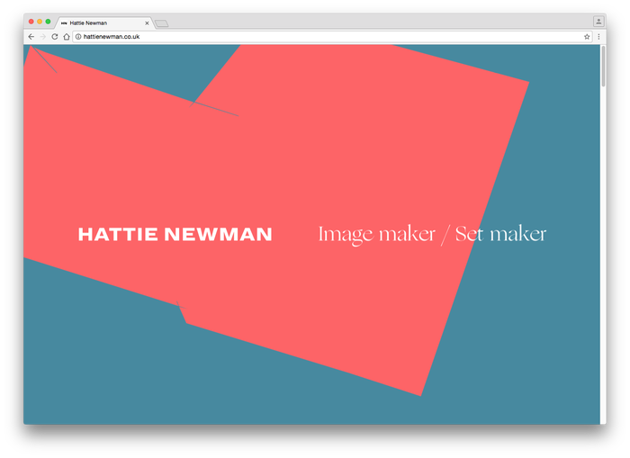 Hattie Newman website 1