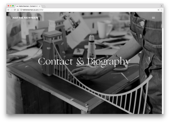 Hattie Newman website 8