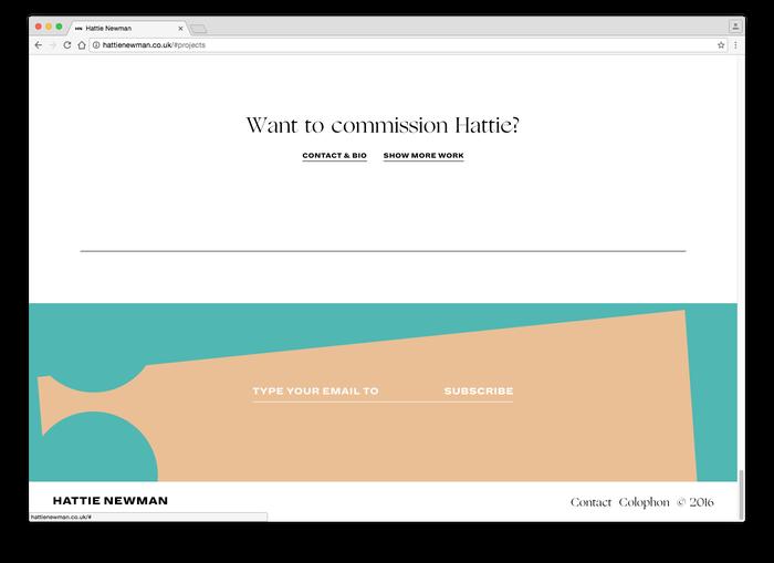 Hattie Newman website 5