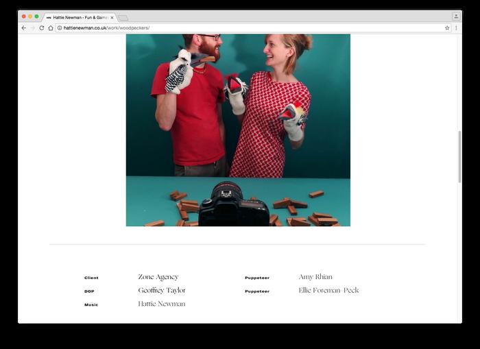 Hattie Newman website 11