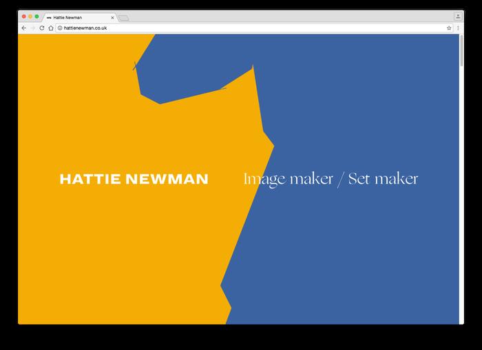 Hattie Newman website 2