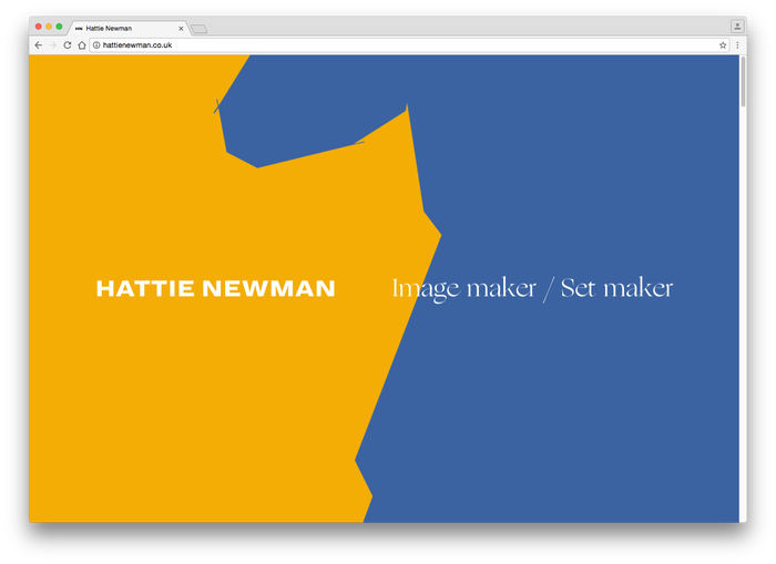 Hattie Newman website 2