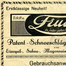 Fruco Patent-Schneeschläger ad