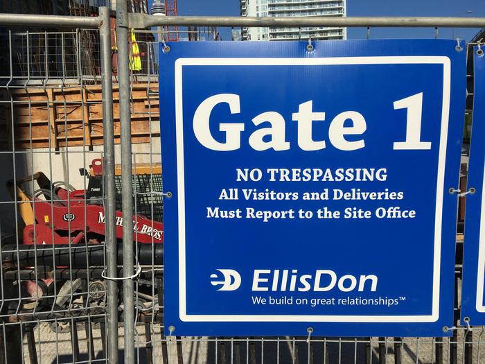 EllisDon construction site signs 1